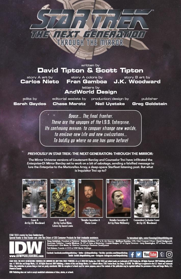 StarTrek_ThroughTheMirror_04-pr-2 ComicList Previews: STAR TREK THE NEXT GENERATION THROUGH THE MIRROR #4