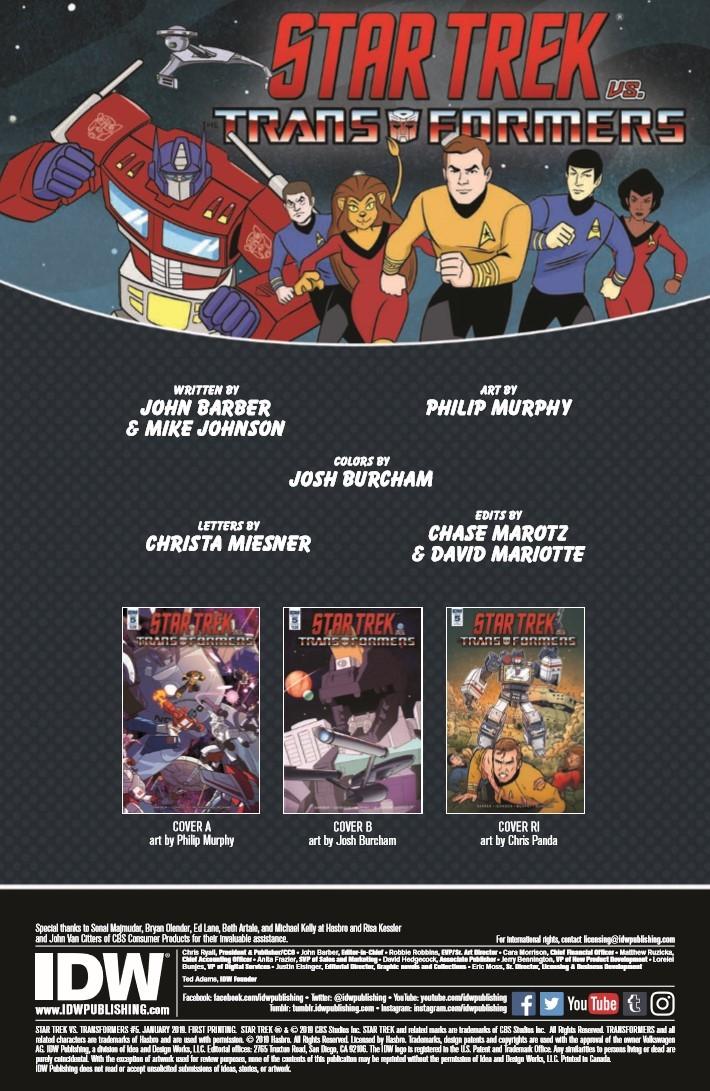 Star_Trek_Transformers_05-pr-2 ComicList Previews: STAR TREK VS TRANSFORMERS #5