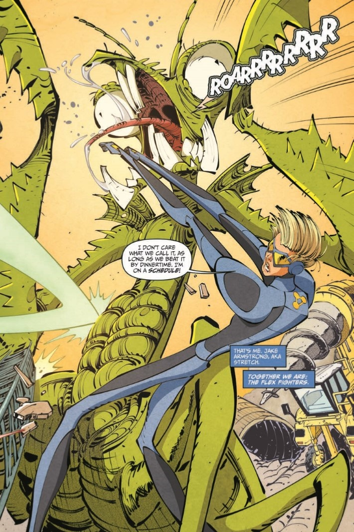 StretchArmstrong_TPB-pr-6 ComicList Previews: STRETCH ARMSTRONG AND THE FLEX FIGHTERS TP