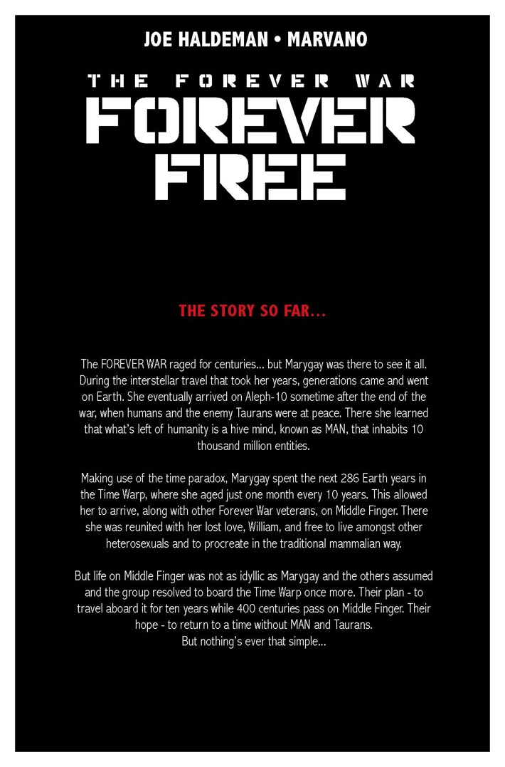 THE_FOREVER_WAR_FOREVER_FREE_3_lowres_Page_Story ComicList Previews: THE FOREVER WAR FOREVER FREE #3