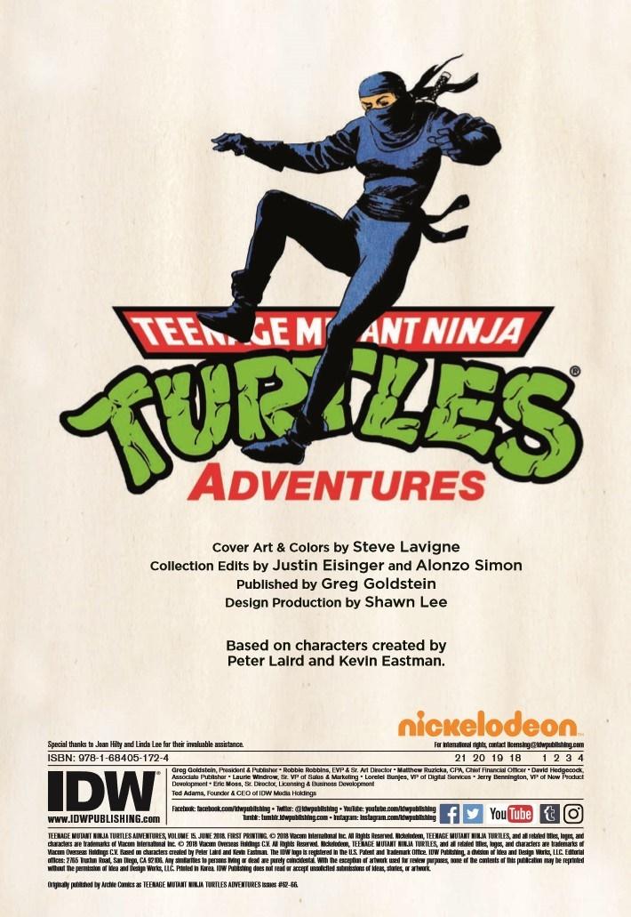 TMNT_Adventures_Vol15-pr-2 ComicList Previews: TEENAGE MUTANT NINJA TURTLES ADVENTURES VOLUME 15 TP