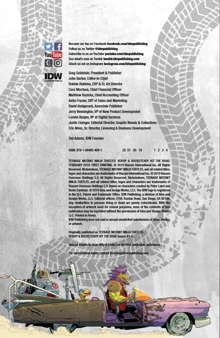 TMNT_Bebop_Rocksteady_Hit_The_Road-pr-2 ComicList Previews: TEENAGE MUTANT NINJA TURTLES BEBOP AND ROCKSTEADY HIT THE ROAD TP