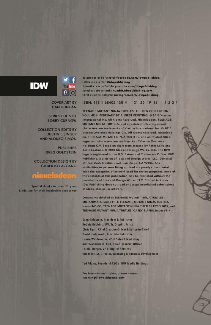 TMNT_IDWColl_v6-pr-2 ComicList Previews: TEENAGE MUTANT NINJA TURTLES THE IDW COLLECTION VOLUME 6 HC
