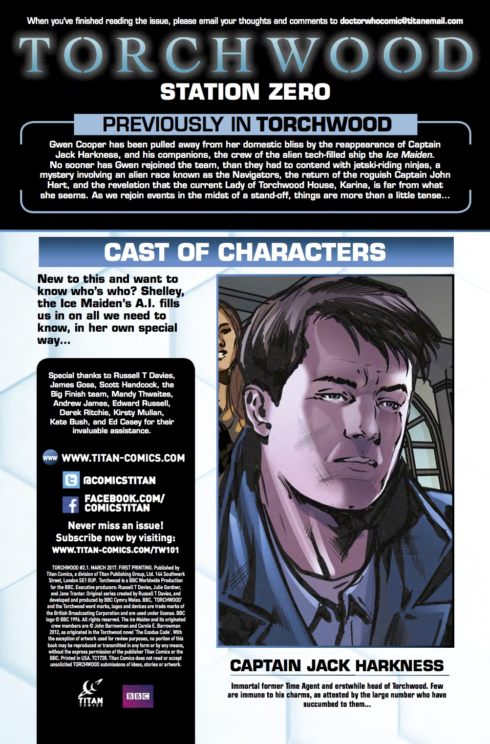 Torchwood_2_1_Credit ComicList Preview: TORCHWOOD 2 #1