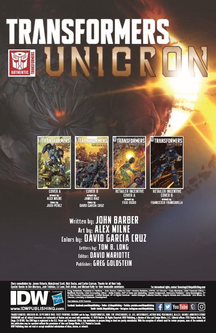 Transformers_Unicron_05-pr-2 ComicList Previews: TRANSFORMERS UNICRON #5