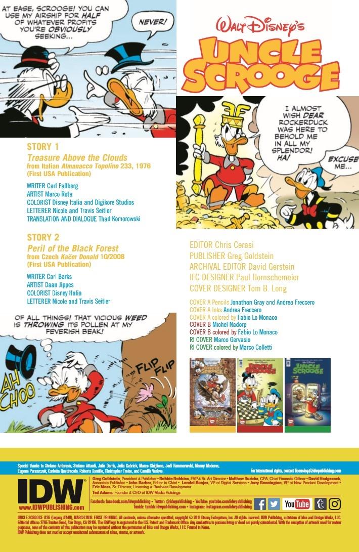 Uncle_Scrooge_36-pr-2 ComicList Previews: UNCLE SCROOGE #36