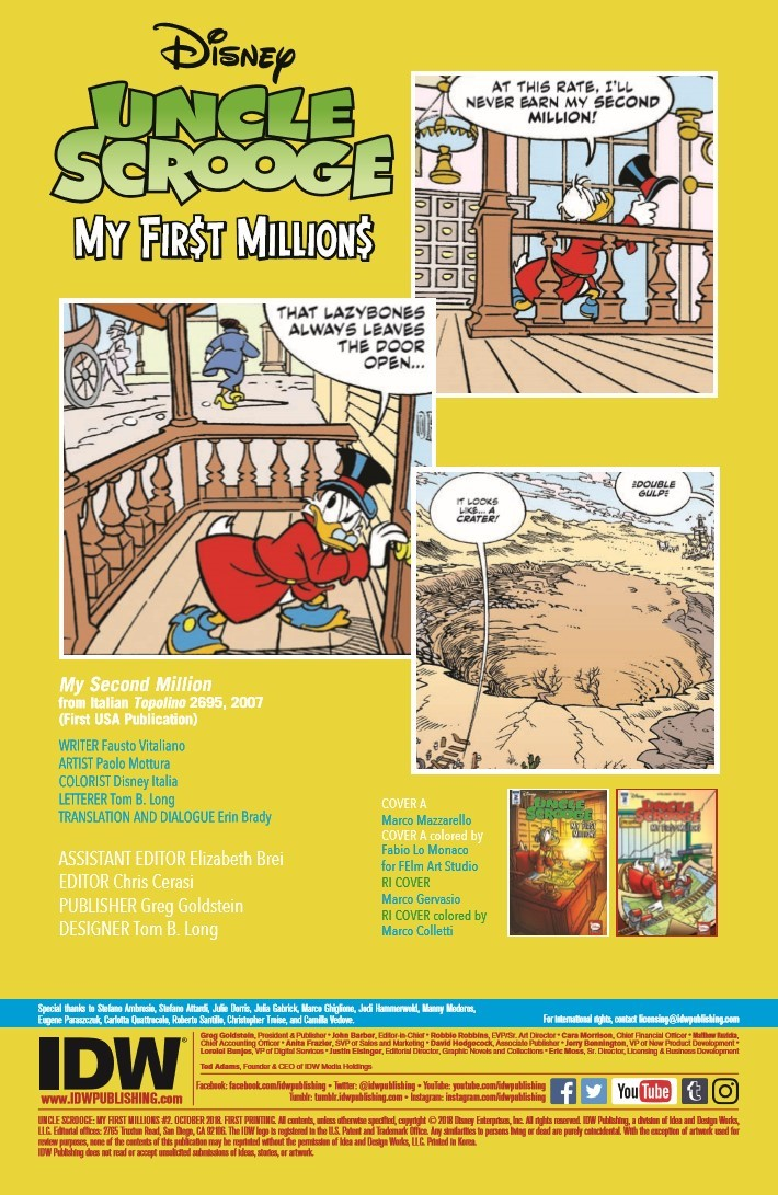 Uncle_Scrooge_First_Million_02-pr-2 ComicList Previews: UNCLE SCROOGE MY FIRST MILLIONS #2