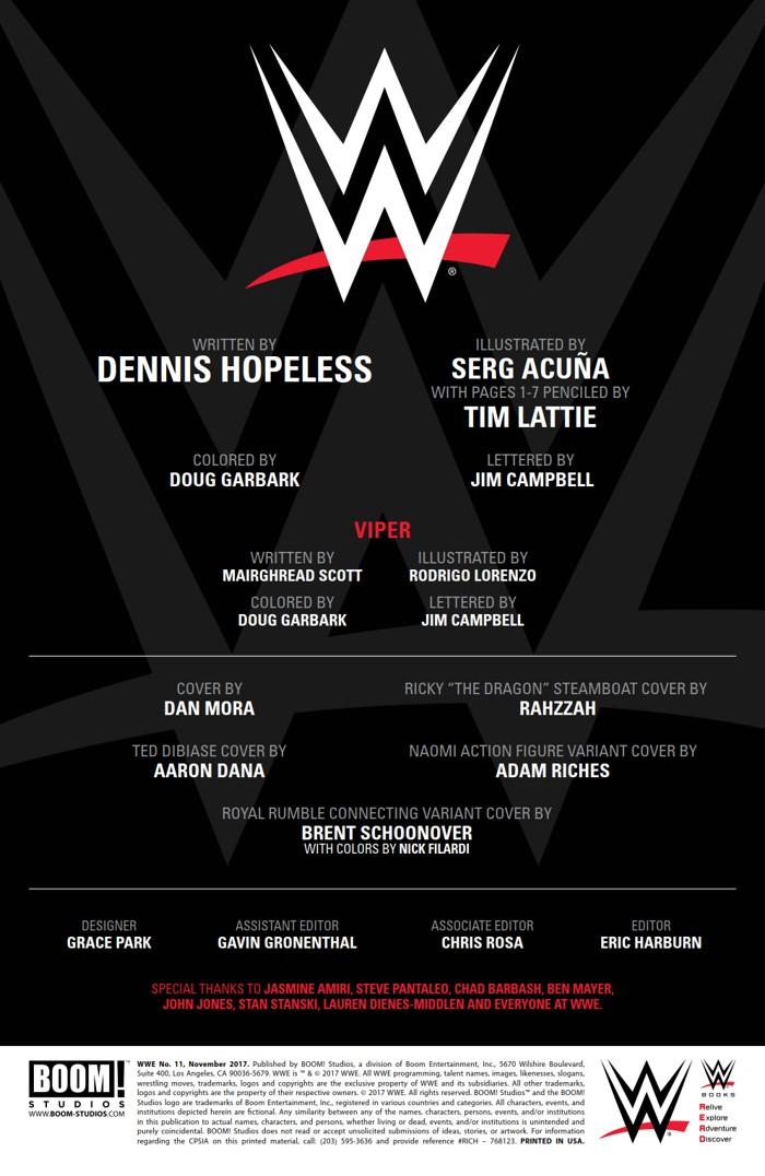 WWE_011_PRESS_2 ComicList Previews: WWE #11