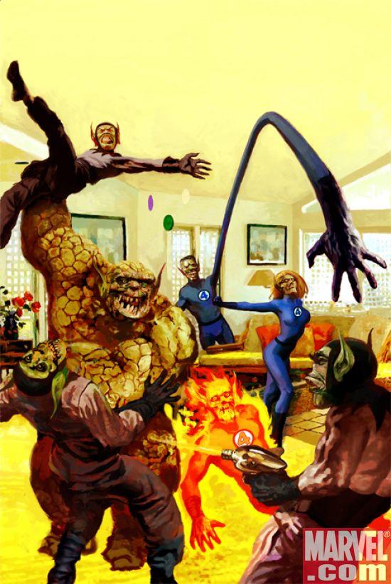 FantasticFour554SkrullVariant Suydam & The Skrulls Cover Fantastic Four #554