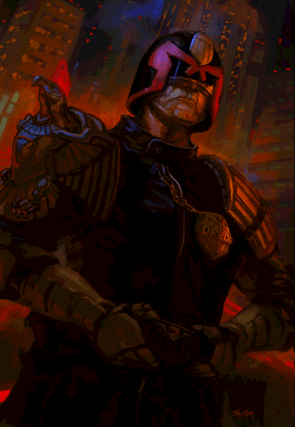 fan artwork judge dredd