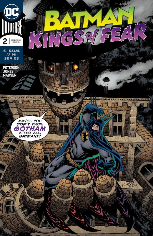 Batman: Kings of Fear #2 cover by Kelley Jones and Michelle Madsen