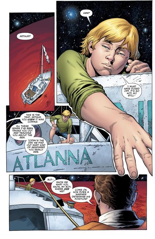 Aquaman #42 art by Lan Medina, Vicente Cifuentes, Gabe Eltaeb, and letterer Steve Wands