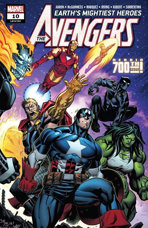 Avengers #700 cover by Ed McGuinness and Marte Gracia