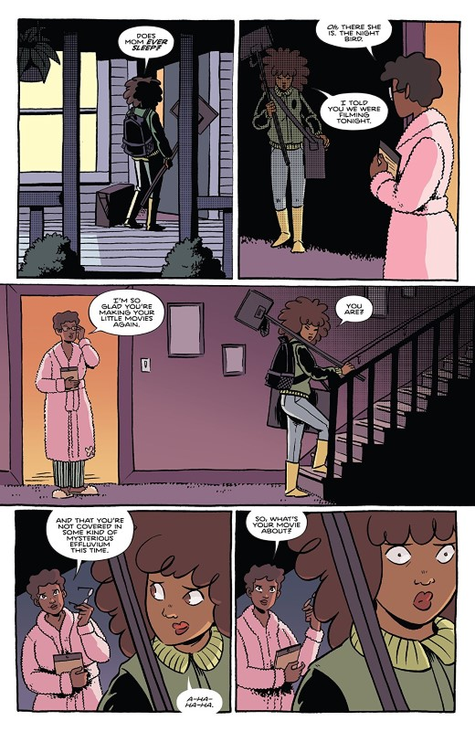 By Night #5 art by Christine Larsen, Sarah Stern, and letterer Jim Campbell