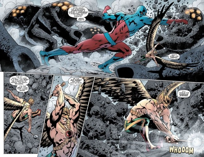 Hawkman #6 art by Bryan Hitch, Jeremiah Skipper, and letterer Richard Starkings and Comicraft