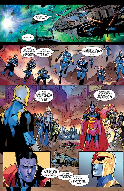 Asgardians of the Galaxy #4 art by Matteo Lolli, Federico Blee, and letterer VC's Cory Petit