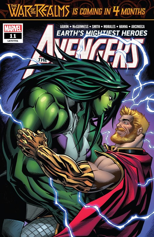 Avengers #11 cover by Ed McGuinness and Marte Gracia