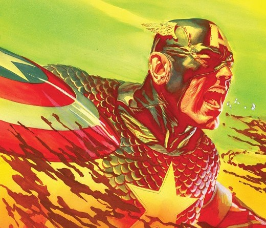 Captain America #6 cover by Alex Ross