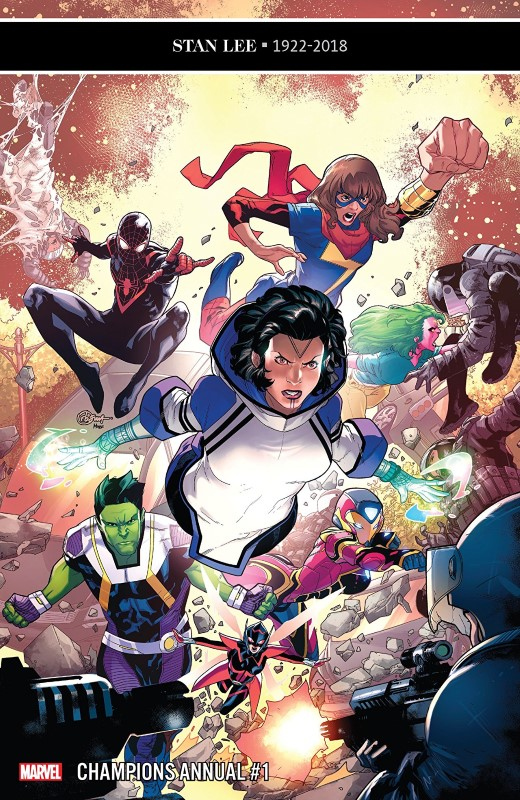 Champions Annual #1 cover by R. B. Silva and Marcio Menyz