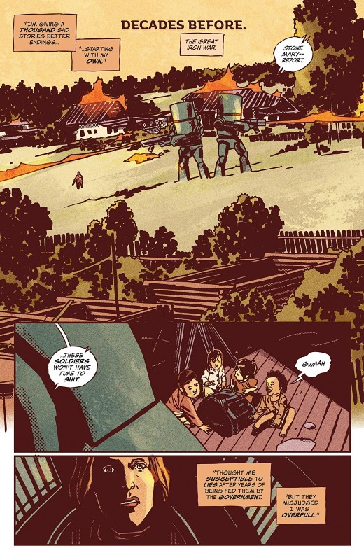 Dead Kings #2 art by Matthew Dow Smith, Lauren Alle, and letterer Thomas Mauer