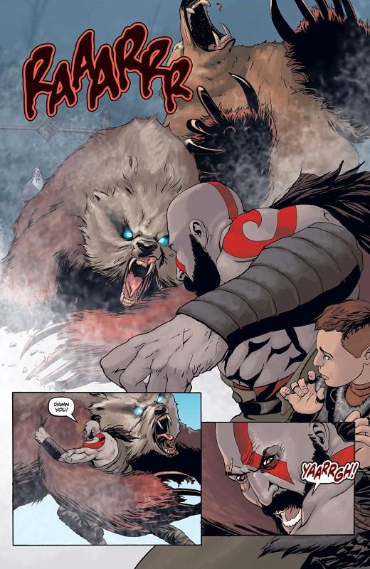 God of War #2 art by Tony Parker, Dan Jackson, and John Roshell of Comicraft