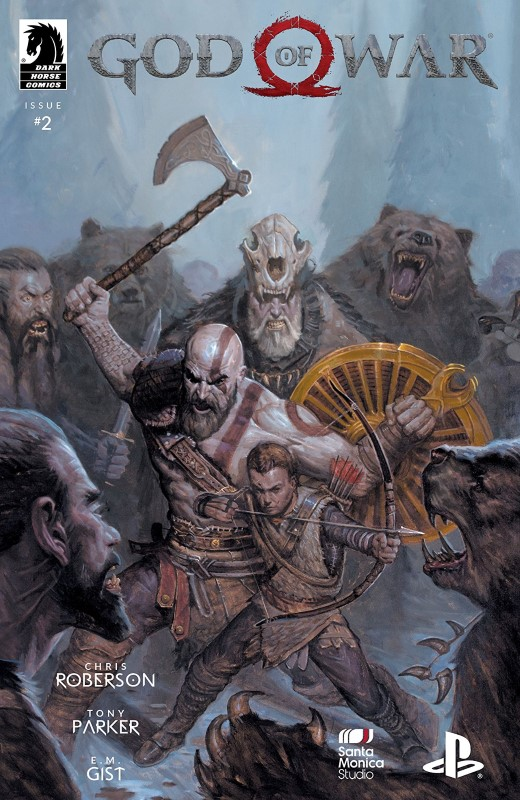 God of War #2 cover by E.M. Gist