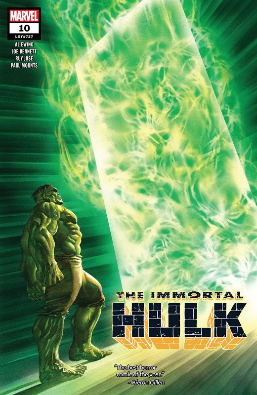 The Immortal Hulk #10 cover by Alex Ross