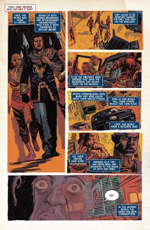 Marvel Knights 20th #4 art by Joshua Cassara, Matt Milla, and letterer VC's Cory Petit