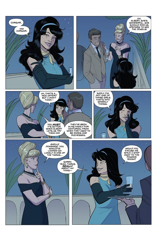 Smooth Criminals #2 art by Leisha Riddel, Brittany Peer, and letterer Ed Dukeshire