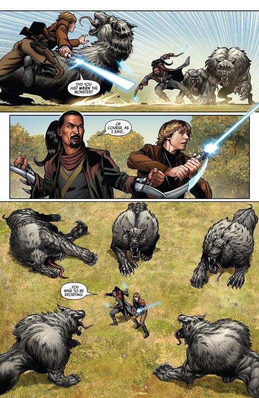 Star Wars #58 art by Angel Unzueta, Guru-eFX, and letterer VC's Clayton Cowles