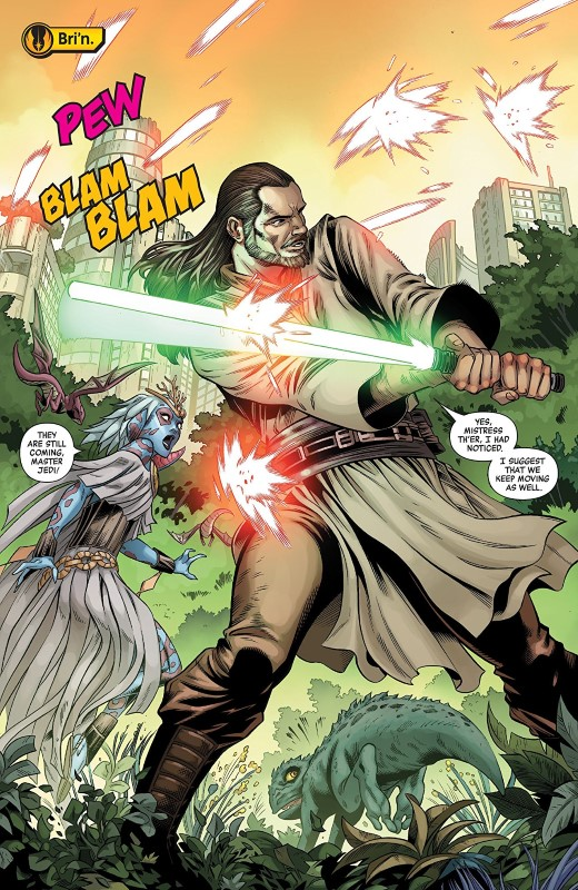Star Wars Age of Republic: Qui-Gon Jinn #1 art by Cory Smith, Walden Wong, Java Tartaglia, and letterer VC's Travis Lanham
