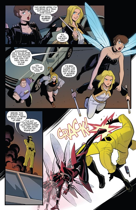 The Unstoppable Wasp #3 art by Gurihiru and letterer VC's Joe Caramagna