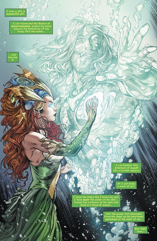 Aquaman #44 art by Robson Rocha, Daniel Henriques, Sunny Gho, and letterer Clayton Cowles