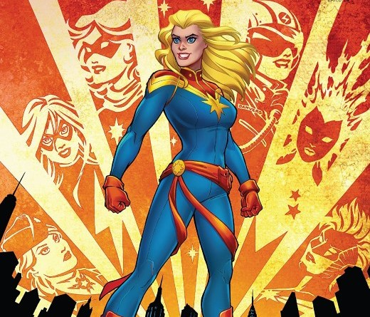 Captain Marvel #1 cover by Amanda Conner and Paul Mounts