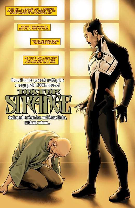 Doctor Strange #10 art by Jesus Saiz and letterer VC's Cory Petit