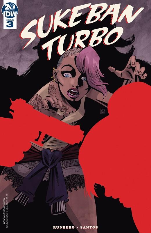 Sukeban Turbo #3 cover by Victor Santos
