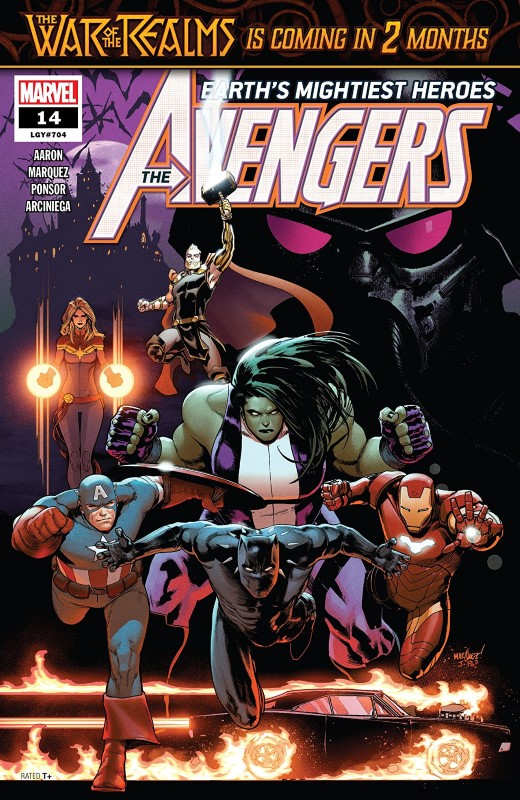 Avengers #14 cover by David Marquez and Justin Ponsor