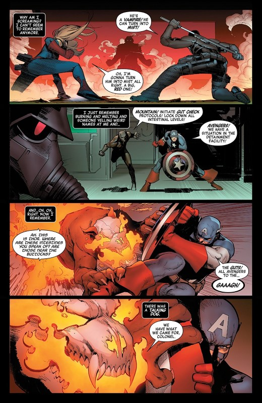 Avengers #15 art by David Marquez, Erick Arciniega, and letterer VC's Clayton Cowles
