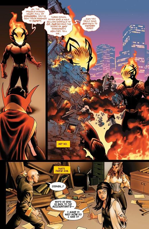 Doctor Strange #11 art by Jesus Saiz, Javier Pina, Rachelle Rosenberg, and letterer VC's Cory Petit