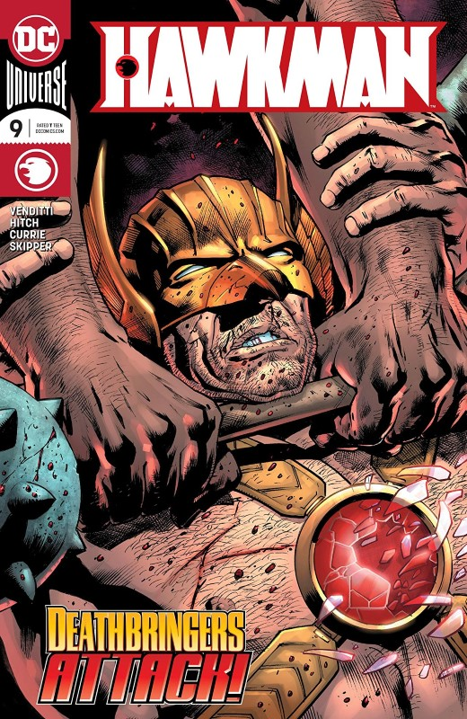 Hawkman #9 cover by Bryan Hitch and Alex Sinclair