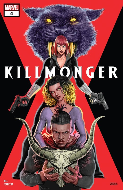 Killmonger #4 cover by Juan Ferreyra