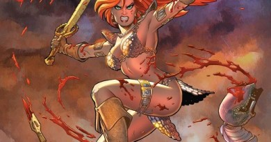 Red Sonja #1 cover by Amanda Conner and Paul Mounts