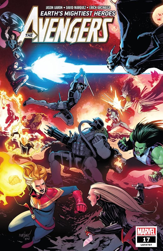 Avengers #17 cover by David Marquez and Matthew Wilson