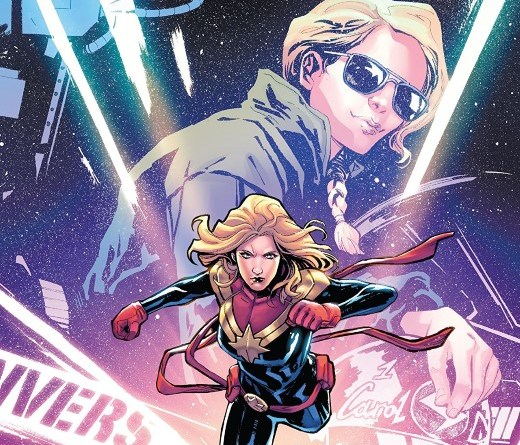 Captain Marvel: Braver and Mightier #1 cover by Valerio Schiti and Rachelle Rosenberg