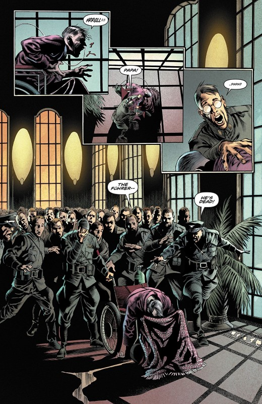 Freedom Fighters #3 art by Eddy Barrows, Eber Ferreira, Adriano Lucas, and letterer Andworld Design