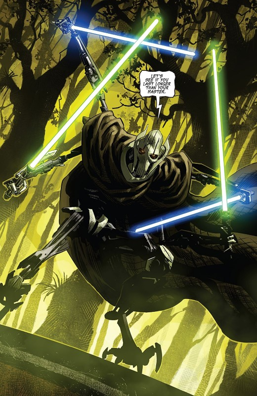 Star Wars Age of Republic: General Grievous #1 art by Luke Ross, Java Tartaglia, and letterer VC's Travis Lanham