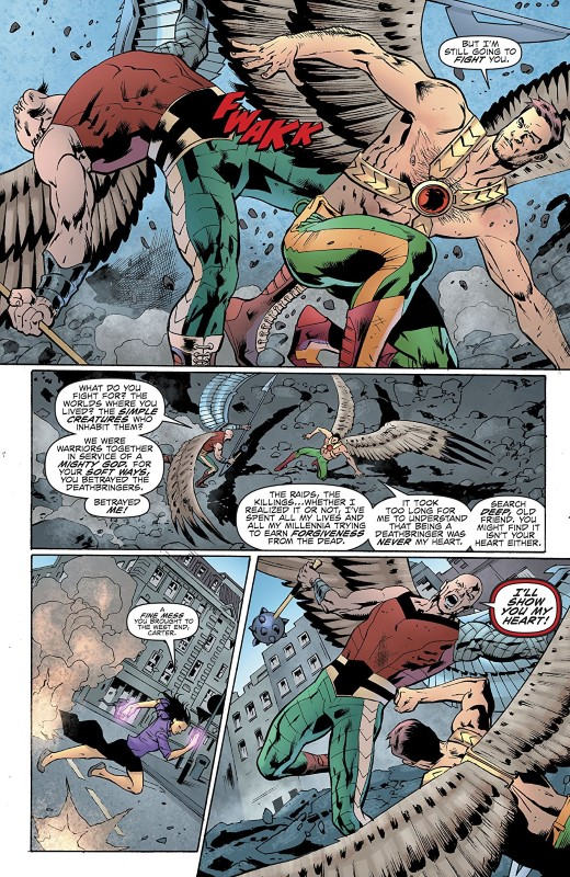 Hawkman #10 art by Bryan Hitch, Andrew Currie, Jeremiah Skipper, and letters from Richard Starkings and Comicraft