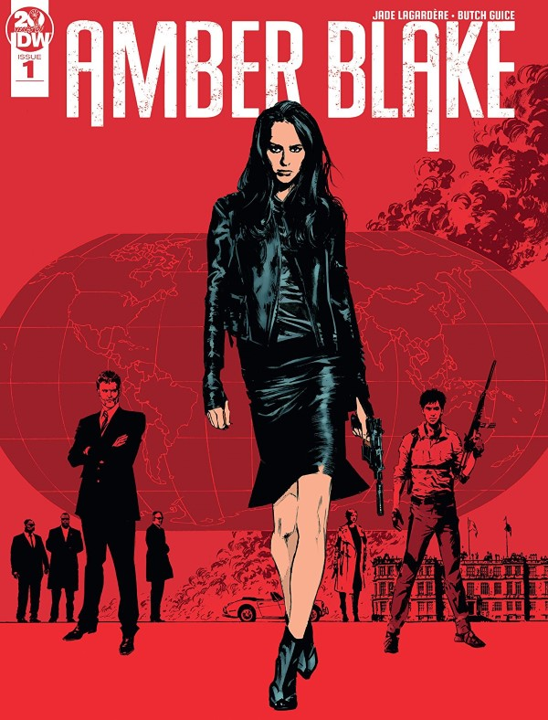 Amber Blake #1 cover by Butch Guice