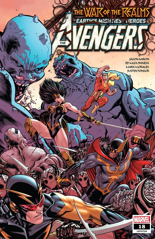 Avengers #18 cover by Ed McGuinness and Val Staples