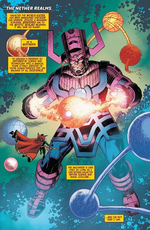 Doctor Strange #13 art by Barry Kitson, Scott Koblish, Scott Hanna, Brian Reber, and letterer VC's Cory Petit